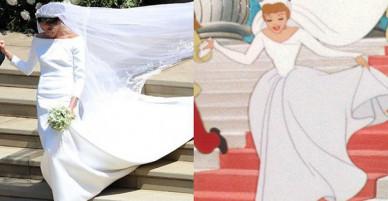 Cư dân mạng phát hiện ra một khoảnh khắc đám cưới hoàng gia Anh giống hệt trong phim Lọ Lem của Disney