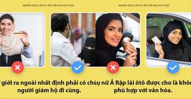 Tưởng toàn là việc đơn giản nhưng với phụ nữ Ả Rập đôi khi vẫn là điều cấm kỵ