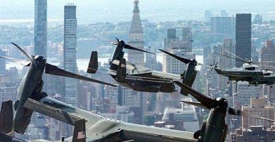Ông Trump khoe video ngồi siêu trực thăng bay trên bầu trời New York