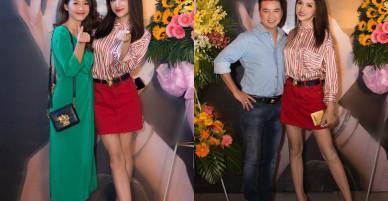 Hương Giang xuất hiện rạng rỡ, thân thiết hội ngộ Đàm Vĩnh Hưng và Lưu Hương Giang tại sự kiện