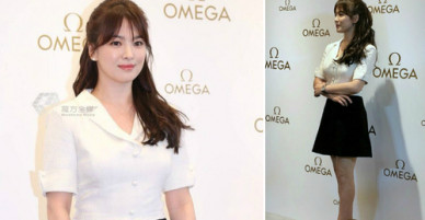 Song Hye Kyo ăn gian chiều cao với đôi giày lênh khênh