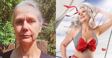 Các cụ bà 60 - 70 tuổi chụp ảnh với bikini, nội y