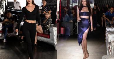 Hương Giang, Hoàng Yến mặc đồ xẻ ngực đi tuyển người mẫu