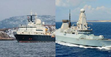 Anh điều tàu khu trục, trực thăng truy đuổi tàu Nga áp sát lãnh hải