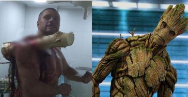 Tấm gương gan dạ: Bị cây lớn đâm xuyên người vẫn bình tĩnh tạo dáng chụp ảnh, còn đùa I am Groot