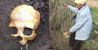 Đào được hộp sọ khi đang làm vườn, chú nông dân Nga sợ mất mật khi vợ bảo Chồng cũ em đấy, chôn lại đi anh