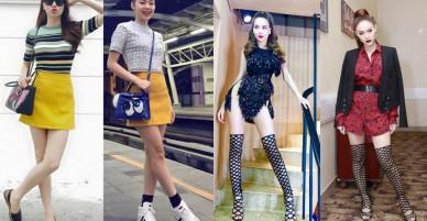Style thời trang đồng điệu của Hồ Ngọc Hà và Minh Hằng