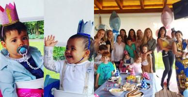 Bạn gái làm sinh nhật giản dị cho hai con song sinh của C. Ronaldo