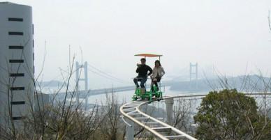 Trò đạp xe trên không thót tim ở Nhật Bản