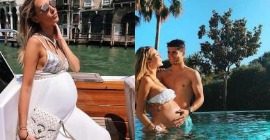 Morata và vợ hé lộ tên của hai con song sinh sắp chào đời