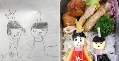 Bố Nhật làm cơm bento theo những bức vẽ nguệch ngoạc của con gái