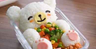 Cách làm cơm hộp hình chú gấu xinh xắn dễ hơn bạn nghĩ