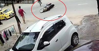 Công an vào cuộc truy xét hai thanh niên đi xe Exciter cướp giật túi xách của cô gái trên đường phố