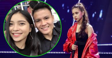 Bạn gái cầu thủ Quang Hải gây chú ý khi đi thi hát