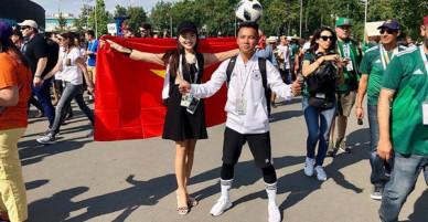 Á khôi Ngọc Nữ chơi lớn khi sang hẳn Nga để xem World Cup 2018