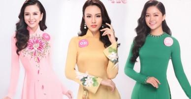 30 thí sinh Hoa hậu VN diện áo dài đọ nét duyên dáng