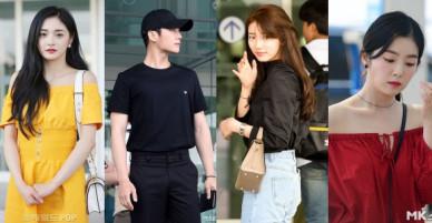 Dàn mỹ nam mỹ nữ gây sốt tại sân bay: 2 nữ thần Red Velvet lộ dấu vết lạ vì váy ngắn cũn, Suzy đẹp nhưng kém nổi bật