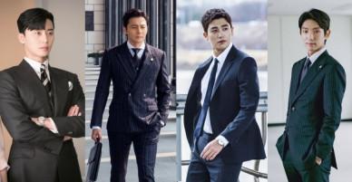 Top 4 nam chính phim Hàn diện vest đẹp nhất, bất ngờ với thứ hạng của phó chủ tịch Park Seo Joon