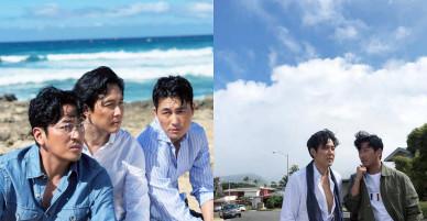 Hình hậu trường khó tin của 3 ông chú độc thân hấp dẫn nhất xứ Hàn: Đẹp như phim, các tài tử trẻ còn phải chạy dài