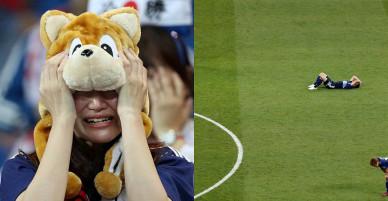 CĐV Nhật Bản tỏa sáng tinh thần Samurai sau trận thua Bỉ