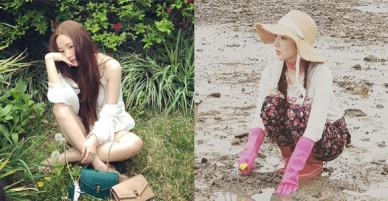 Hết Park Seo Joon, lại đến Park Min Young chứng minh: Đẹp thì lội bùn, mò cua bắt ốc cũng vẫn đẹp!