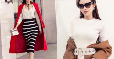 Học cách mix đồ độc đáo của người mẫu Thanh Trang