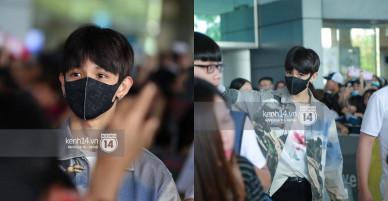 """Vừa đổ bộ sân bay Tân Sơn Nhất, """"Hoàng tử lai"""" Samuel đã được hàng loạt ống kính săn đón"""