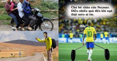 """""""Messi, Ronaldo giữa đường về nước thì gặp Neymar giơ tay xin đi nhờ"""""""