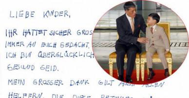 Hoàng tử nhí Thái Lan gửi thiệp động viên đội bóng kẹt trong hang