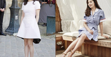 Chỉ trung thành với giày màu nude, nhưng hoá ra đây là cách mà Song Hye Kyo diện đẹp mọi bộ đồ