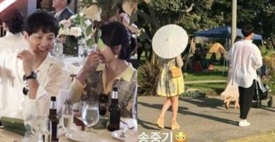 Lâu lắm mới lộ diện, vợ chồng Song Song gây sốt vì cùng ăn diện, tình tứ bên nhau trong đám cưới bạn tại Mỹ
