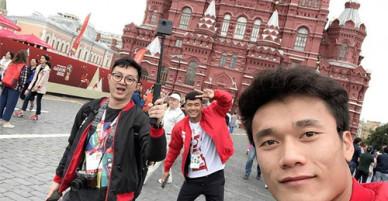 Bùi Tiến Dũng khoe ảnh đi Nga xem World Cup 2018