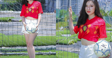 Nữ sinh Hà Nội 19 tuổi dự đoán Bỉ thắng Pháp nhờ Hazard ghi bàn
