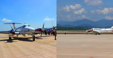 Chuyến bay đầu tiên hạ cánh xuống sân bay quốc tế Vân Đồn