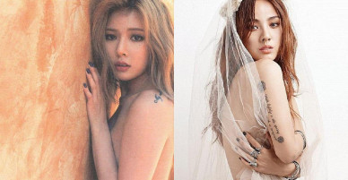 """Bỏng mắt với khoảnh khắc các """"quả bom sex"""" Hàn Quốc khoe ngực trần"""