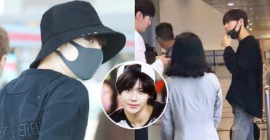 Nam thần đình đám Taemin (SHINee) bất ngờ có mặt ở Đà Nẵng, bịt kín nhưng vẫn bị fan phục kích tại sân bay