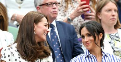 Kate và Meghan lần đầu cùng nhau đi xem giải Winbledon
