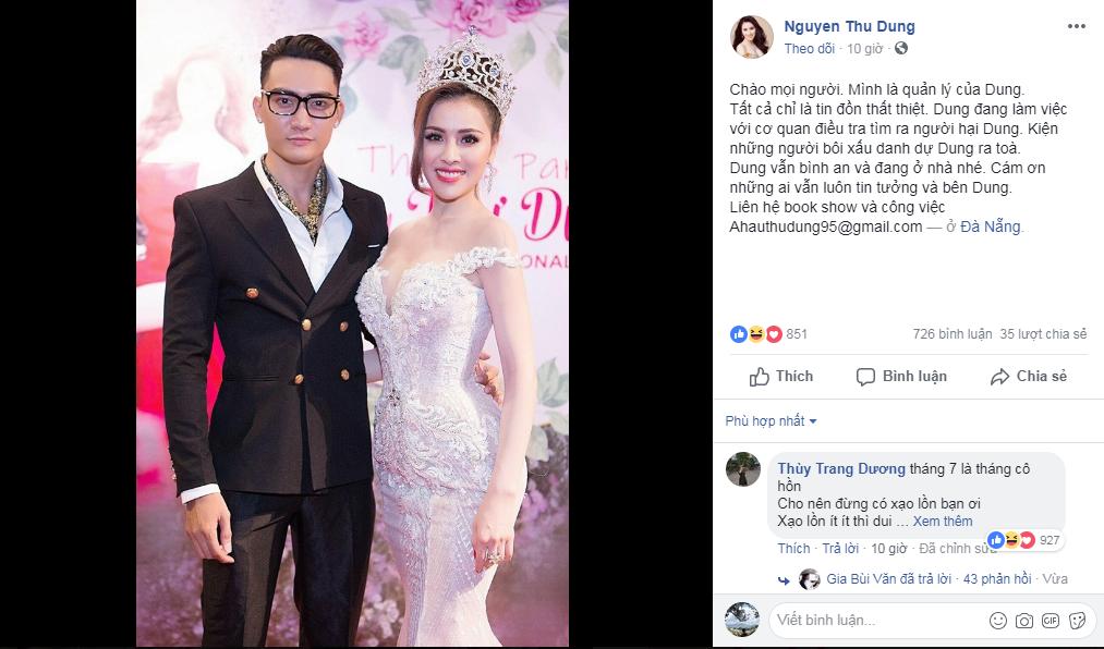 Á hậu Thư Dung, làm gái, đi khách, tin8, chân dài, người nổi tiếng, Mc Cao Vy