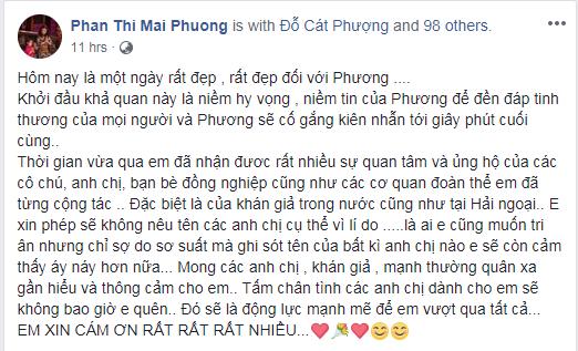 tin8, Mai Phương, status, cảm động, tri ân, cám ơn, Ốc Thanh Vân