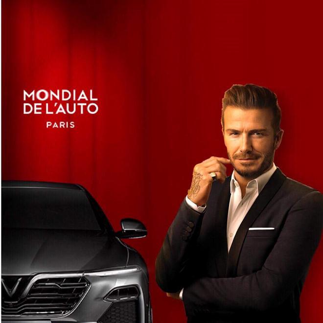 David Beckham, Vinfast, Vingroup, Phạm Nhật Vượng, triển lãm xe, Hoa hậu Tiểu Vy, tin8