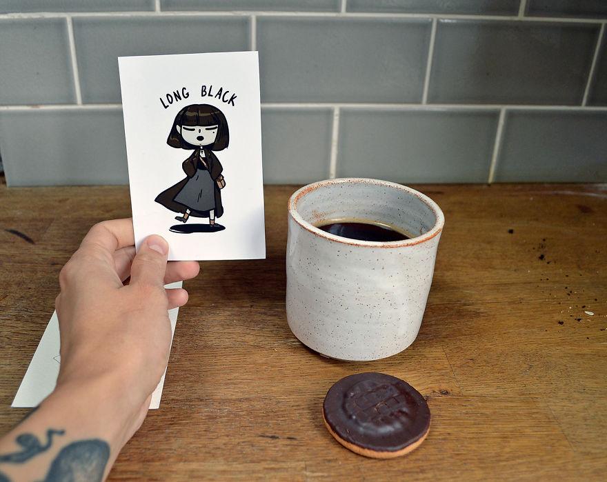 cafe, tin8, nước uống, bộ ảnh, xinh, đẹp, dễ thương, Latte, Cappuccino, Long Black, Cortado, Mocha, Frappuccino