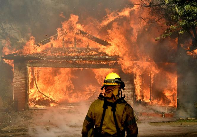 Cận cảnh, cháy, lửa, cháy rừng, California, vượt biển lửa, tin8
