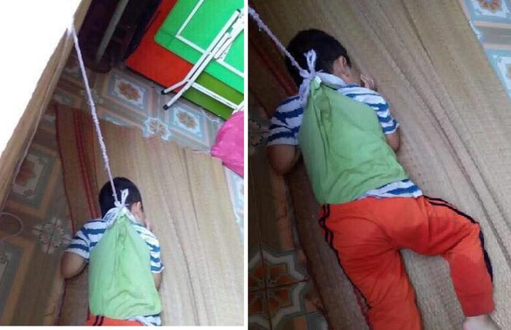 cậu bé 4 tuổi, buộc dây thừng, cửa sổ, hành hạ trẻ em, bạo hành trẻ em, mầm non, cô giáo,hung thủ, Nam Định, tin8