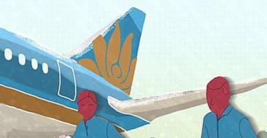 Vietnam Airlines hoãn chuyến bay 80 phút để chở người Hàn Quốc đang bị thương nặng