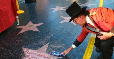 Ngôi sao danh vọng của Donald Trump bị phá hủy hoàn toàn trên đại lộ Hollywood