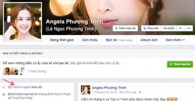 """Sao Việt, """"hot"""" Facebooker bất ngờ bị mất hàng ngàn lượt theo dõi?"""