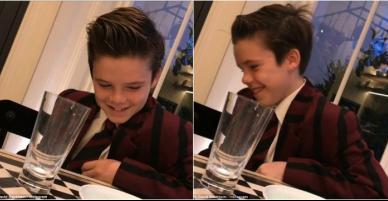 """[VIDEO] Con trai út nhà Beckham đẹp như """"soái ca nhí"""" khi bắt đầu làm ca sĩ"""