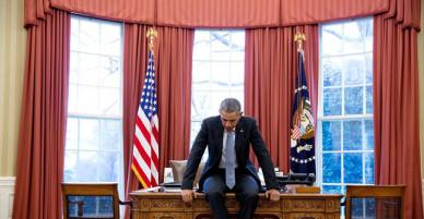 Bức ảnh khiến người xem bồi hồi khi chỉ còn ít ngày nữa, Obama sẽ rời khỏi Nhà Trắng