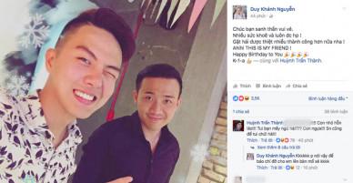 Duy Khánh đăng ảnh chúc mừng sinh nhật và đây là câu trả lời bất ngờ của Trấn Thành