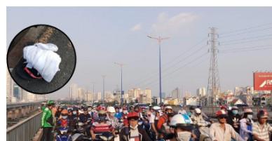 """Giận người yêu, cô gái """"dựng hiện trường"""" nhảy cầu tự tử khiến giao thông cầu Sài Gòn hỗn loạn nghiêm trọng"""